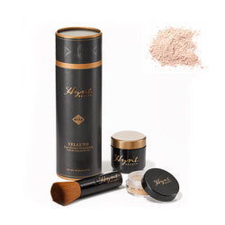 Hynt Beauty Velluto Mineralpudder foundation sett med kost