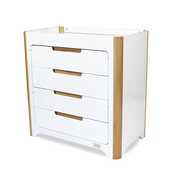 Scandi Chest - White/Beech