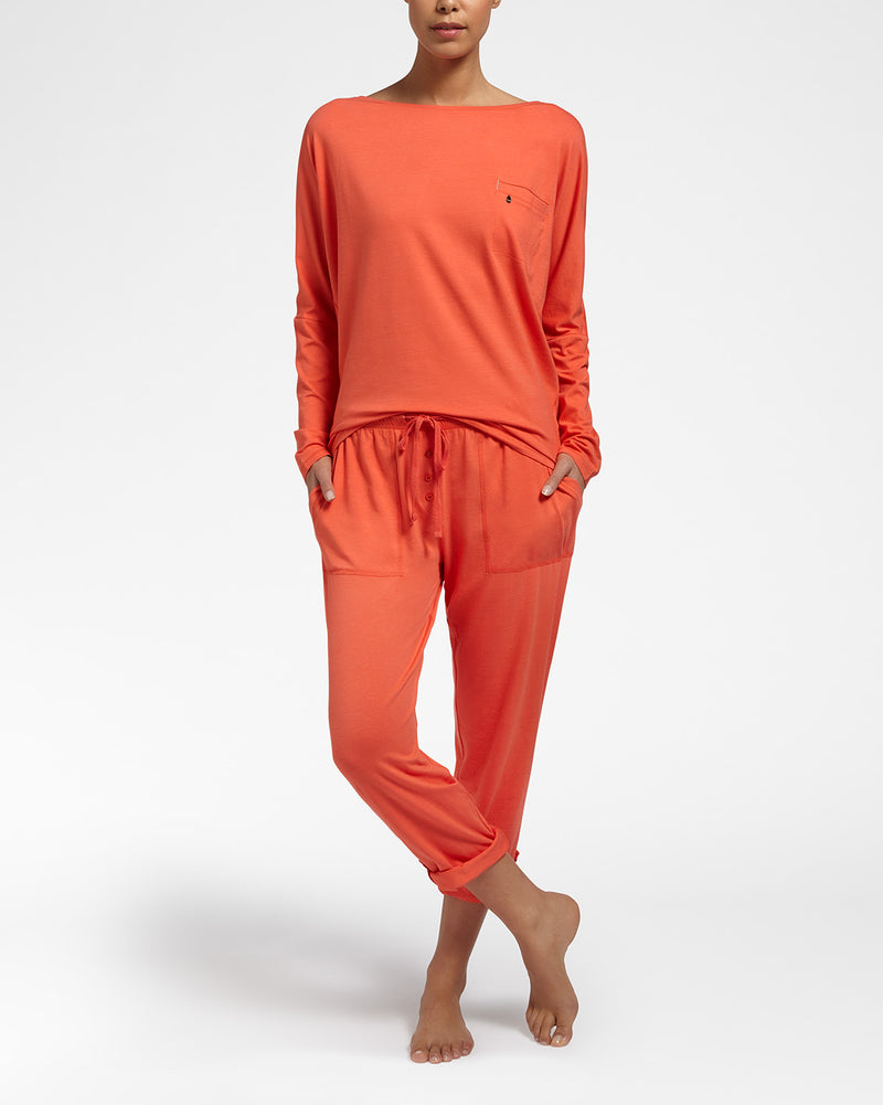 ALL DAY COMFORT ORANGE - Top met lange mouwen