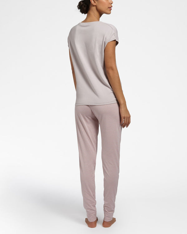 ALL DAY COMFORT PEARL GREY - Top met korte mouwen