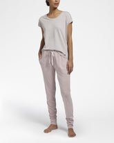 All Day Comfort Pearl Grey Top Met Korte Mouwen