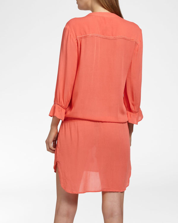 BEACH VIBES CORAL - Jurk 3/4 mouw