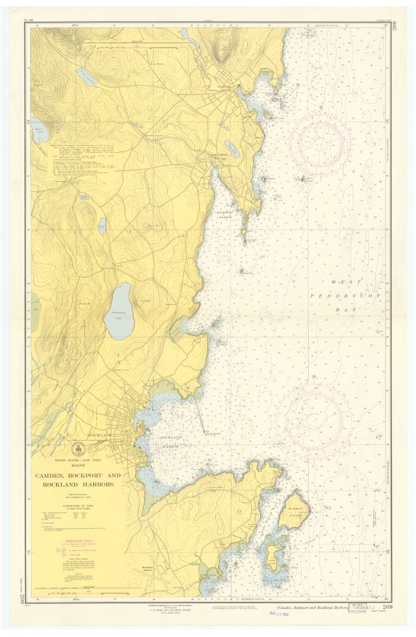 Map of Camden, Rockport and Rockland