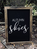 Autumn Skies, Pumpkin Pies