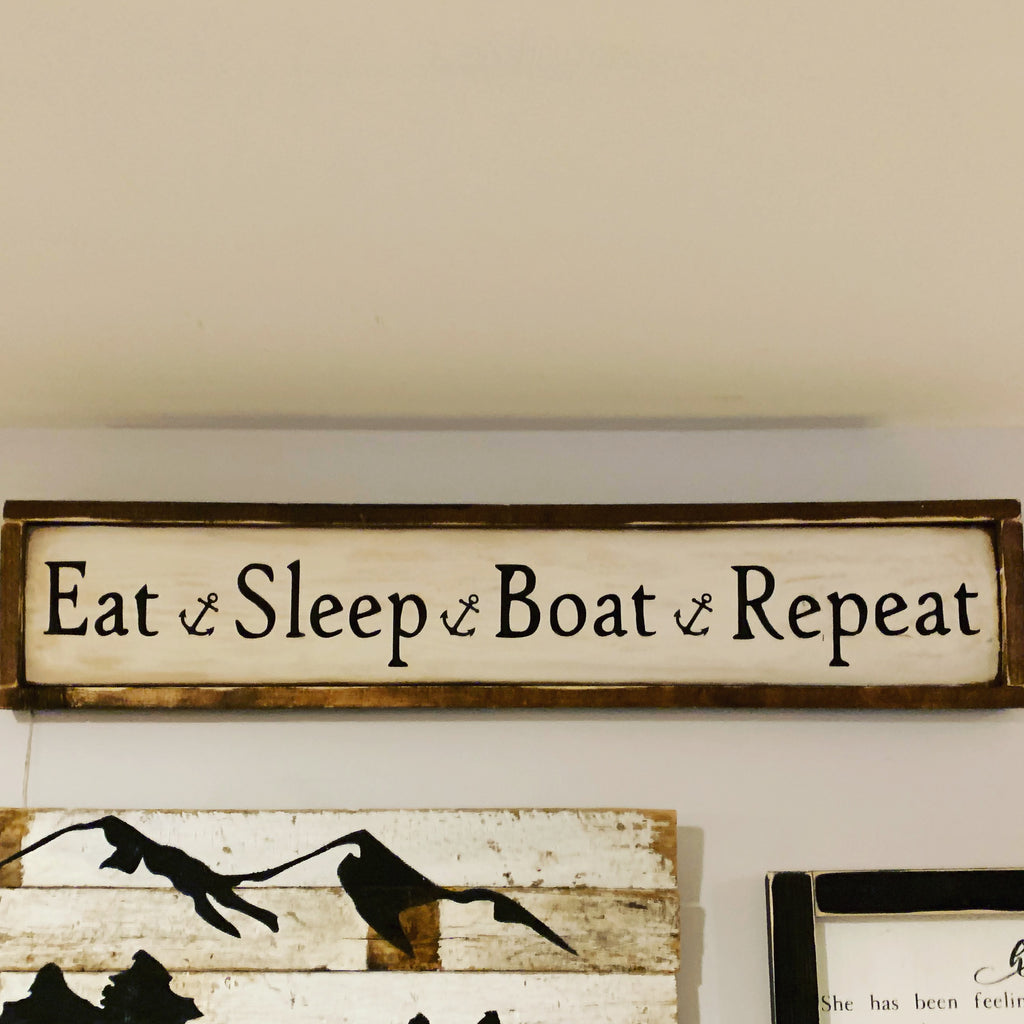 Eat, sleep, boat, repeat