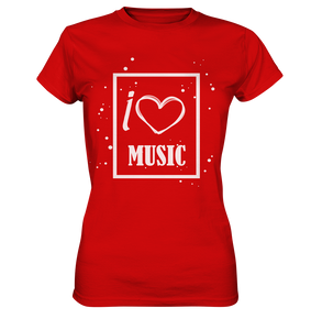 I love Music Heart-Ladies Premium Shirt