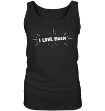 Laden Sie das Bild in den Galerie-Viewer, I love Music-Ladies Tank-Top