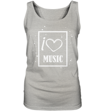 Laden Sie das Bild in den Galerie-Viewer, I love Music Heart-Ladies Tank-Top