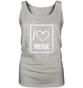 I love Music Heart-Ladies Tank-Top