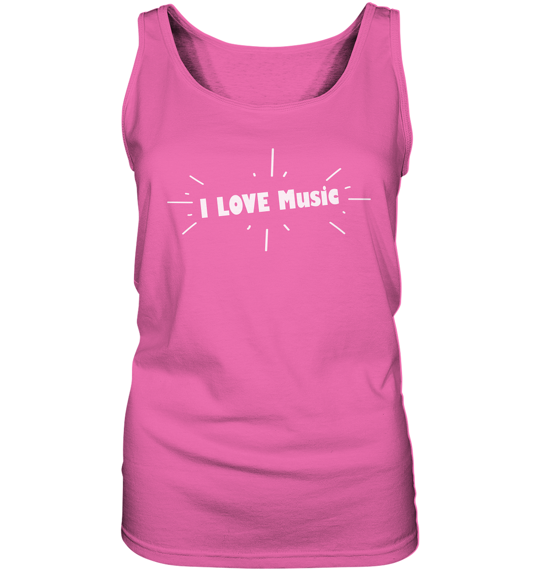 I love Music-Ladies Tank-Top