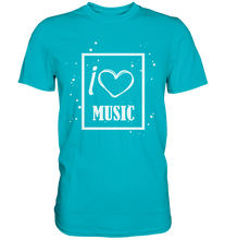 Laden Sie das Bild in den Galerie-Viewer, I love Music Heart-Premium Shirt