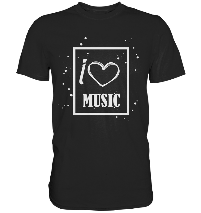 I love Music Heart-Premium Shirt