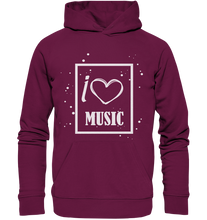 Laden Sie das Bild in den Galerie-Viewer, I love Music Heart-Premium Unisex Hoodie