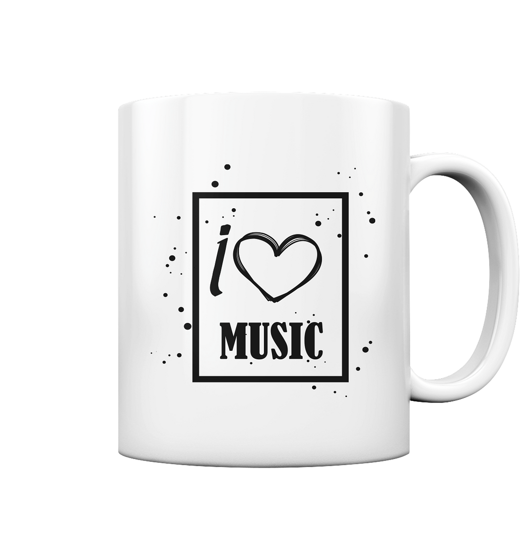 I love Music Heart-Tasse glossy