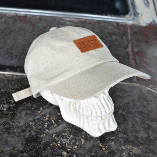 Linen Blend Patch Cap - Natural