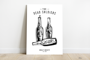 Dead Soldiers White Print