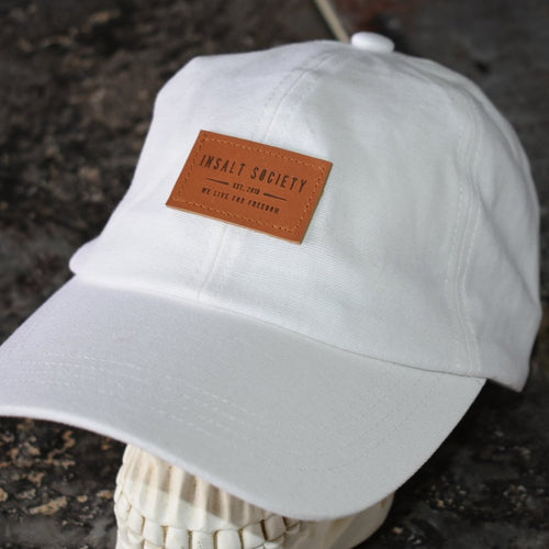 Linen Blend Patch Cap White
