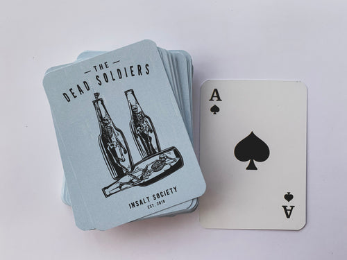 Dead Soldiers Playing Cards