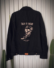 Load image into Gallery viewer, Talk is Cheap Classic Black Denim Jacket