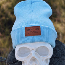 Load image into Gallery viewer, Baby Blue Insalt Patch Beanie