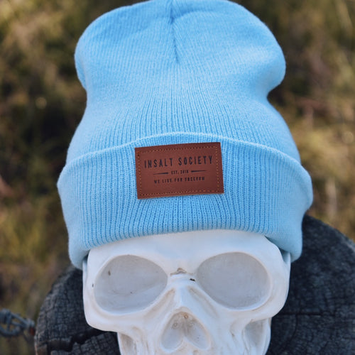 Baby Blue Insalt Patch Beanie