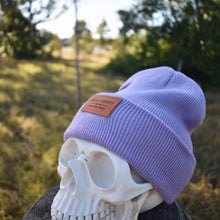 Load image into Gallery viewer, Lilac Insalt Patch Beanie