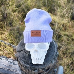 Lilac Insalt Patch Beanie
