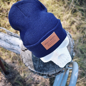 Dark Blue Insalt Patch Beanie