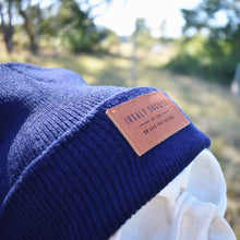 Load image into Gallery viewer, Dark Blue Insalt Patch Beanie