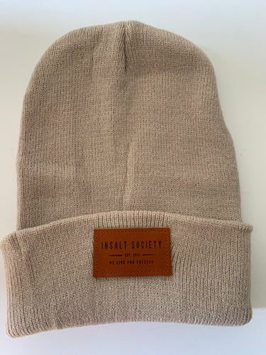 Tan Insalt Patch Beanie