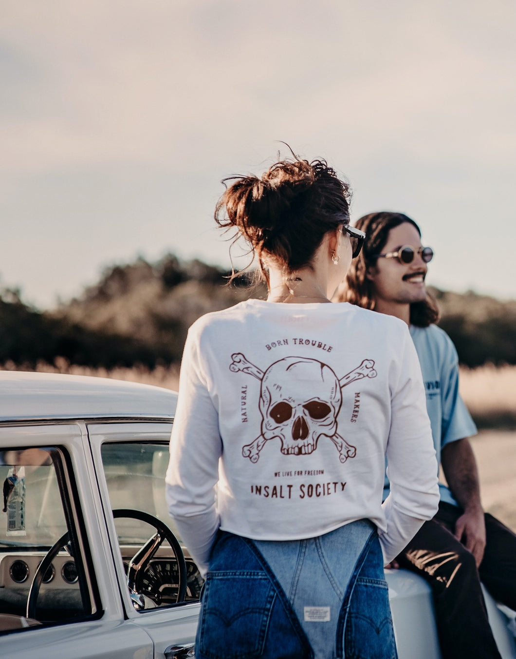 Trouble Makers Long Sleeve White