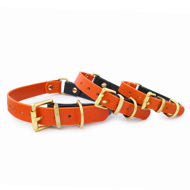COLOUR BLOCK COLLAR | ORANGE + NAVY