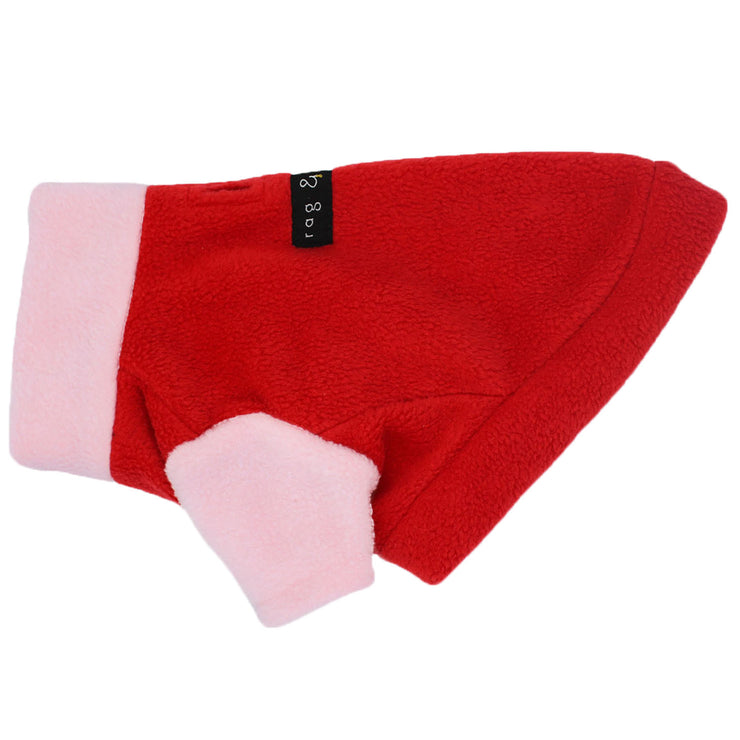 COLOUR BLOCK FLEECE | RED + PINK