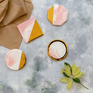 Pink - Set of 4 Coasters