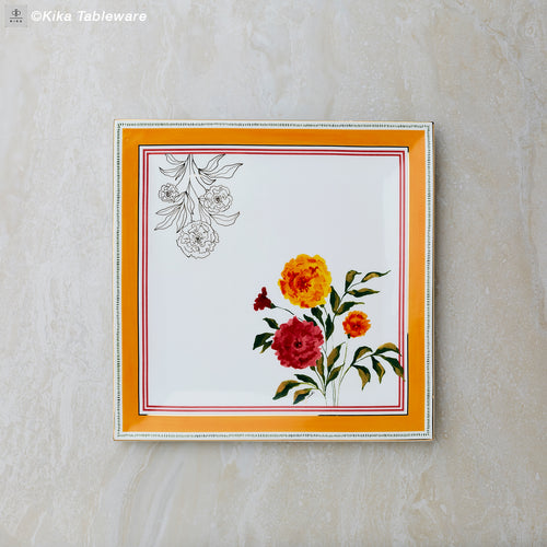 Kika Tableware Indian Marigold Bone China 24k Gold