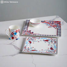 Load image into Gallery viewer, Paisley Square Platter 29cm