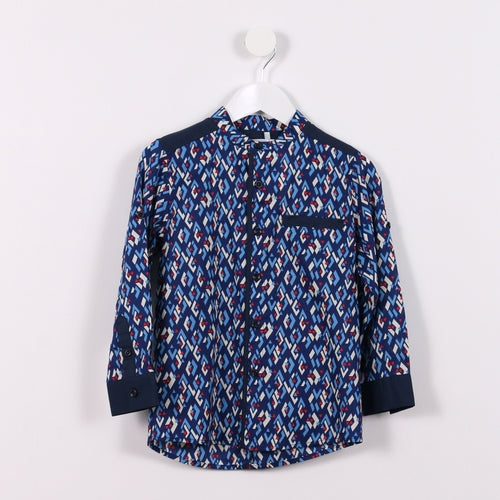 Long-sleeved Mandarin Shirt