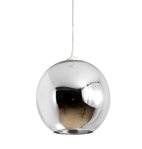 Mirror Ball Shade Pendant Lamp - Chrome -