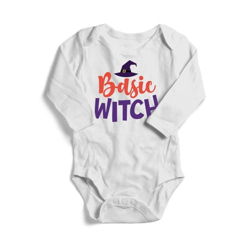 Basic Witch Halloween Baby Long Sleeve Bodysuit