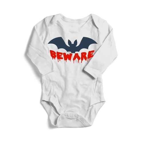 Beware Halloween Baby Long Sleeve Bodysuit