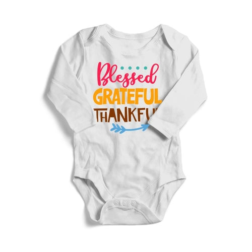 Blessed Grateful Thankful Baby Long Sleeve