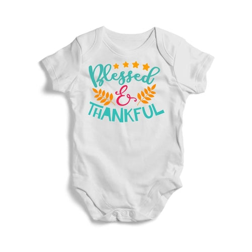 Blessed and Thankful Baby Short Sleeve Bodysuit -