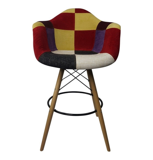 DAW Patchwork C - Bar Eiffel Armchair Stool -