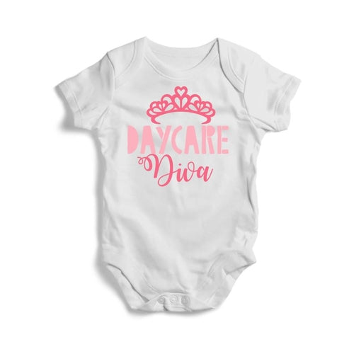 Daycare Diva Baby Short Sleeve Bodysuit