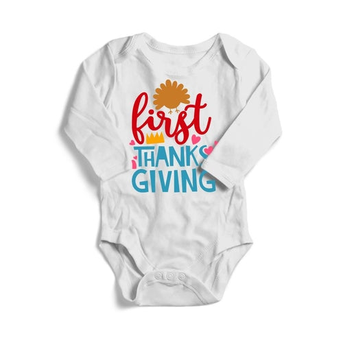 First Thanksgiving Baby Long Sleeve Bodysuit -