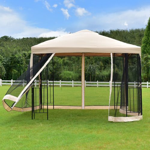 10'x10' Gazebo Canopy Shelter Patio Wedding