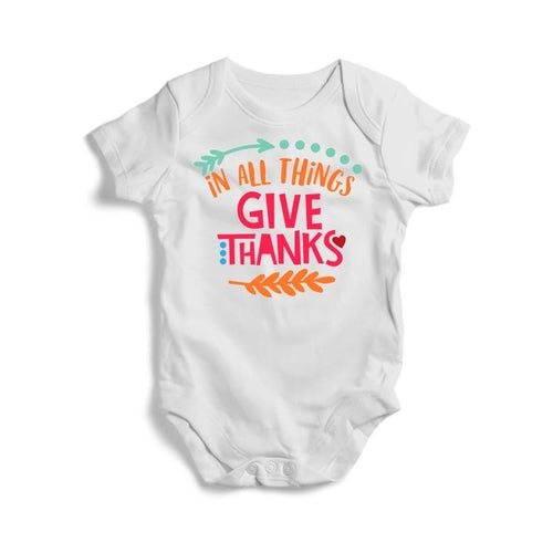 In All Things Give Thanks Baby Short Sleeve