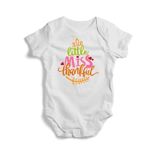 Little Miss Thankful Baby Short Sleeve Bodysuit -