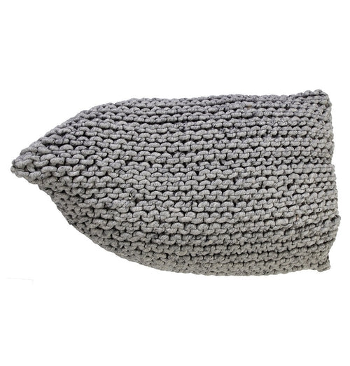 Handmade Knitted Woolen Beanbag | Natural Grey |