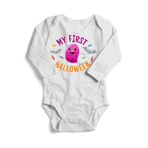 My First Halloween Baby Long Sleeve Bodysuit